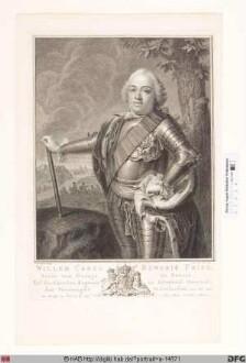 Bildnis Wilhelm IV. Carl Heinrich Friso, Prinz von Oranien, Fürst zu Nassau-Diez, -Dillenburg u.-Siegen, 1748-51 Erbstatthalter der Niederlande