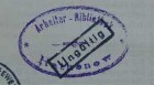 Arbeiterbibliothek zu Rathenow / Stempel