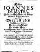 Heiliger Joannes de Matha, Stiffter ... des h. Ordens der allerheil. ... Dreyfaltigkeit von Erlösung der Gefangenen, ein himmlischer Mensch, ein irdischer Engel
