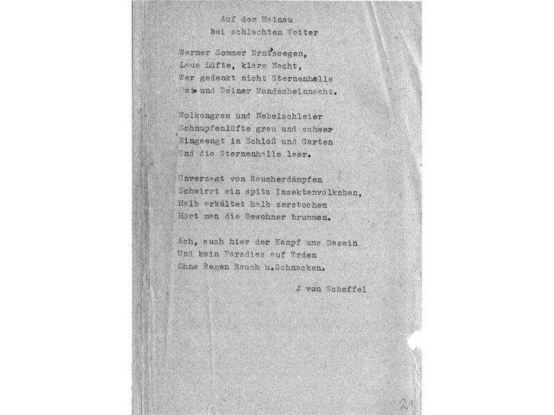 Auf Der Mainau Beim Schlechtem Wetter Gedicht Von Victor