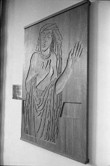 Ausstellung von Arbeiten des Holzbildhauers Theodor Artur Winde im Landesgewerbeamt.