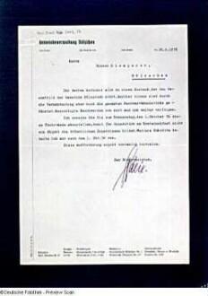 Schreiben der Gemeindeverwaltung Dölzschen an Prof. Victor Klemperer vom 26.09.1936 mit der Auflage zur Grundstückspflege