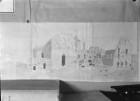 Unvollendete Zeichnung der Bischofsburg mit Dom von Nordosten