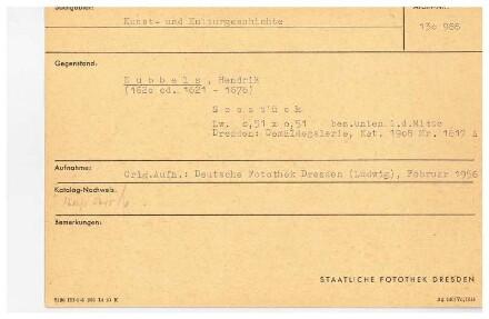 Dubbels, Hendrik Jacobsz. Seestück. Leinwand; 51 x 51 cm, bezeichnet. Dresden: Staatliche Kunstsammlungen, Gemäldegalerie Neue Meister Kat. 1908 Nr. 1617 A