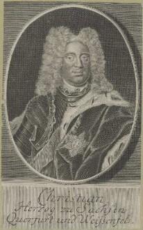 Bildnis des Christian, Herzog von Sachsen, Querfurt und Weißenfels