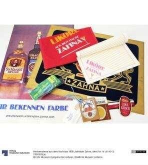 Werbematerial aus dem Nachlass VEB Likörfabrik Zahna
