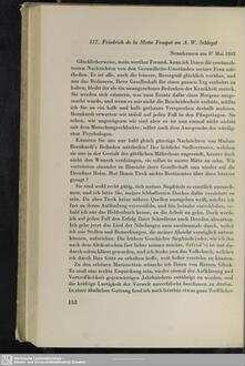 Friedrich de La Motte-Fouqué an August Wilhelm von Schlegel, Nennhausen, 08.05.1803