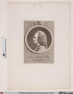 "Bildnis Jean-Baptiste II (""le fils"") Lemoyne"