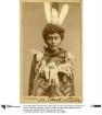 Bella Coola Indianer in Pooh-Pooh im Tanzkostüm, Bella Coola Indianer in Europa, 1885/1886