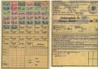 Quittungskarte der Invalidenversicherung für Walter Bauer, ausgestellt von der Ortsbehörde für die Arbeiter- u. Angestellten-Versicherung
