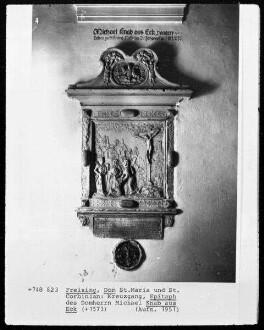 Epitaph des Domherrn Michael Knab aus Eck (+1573)