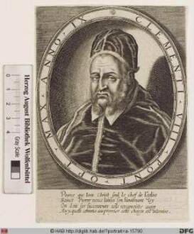 Bildnis Papst Clemens VIII. (Ippolito Aldobrandini) (reg. 30. 1. 1592 - 5. 3. 1605)