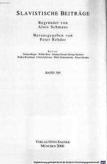 Diskontinuität und Tradition im System der tschechischen Anredepronomina : (1700 - 1850)