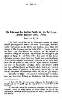 Die Relationen des Nuntius Carafa über die Zeit seiner Wiener Nuntiatur (1621-1628)