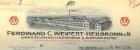 Konvolut Rechnungen von Heilbronner Firmen für die Heilanstalt Weinsberg darunter schwächere Firmenansicht von F. C. Weipert 1932