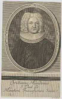 Bildnis des Christianus Mündenius