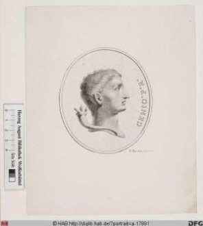 Bildnis ROM: Augustus, 1. römischer Kaiser 31 v. Chr.- 14 n. Chr. (eig. Caius Octavius)