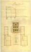 Entwurf eines Gebäudes [Naturhistorisches Museum],                                Seitenfassade und Aufriss