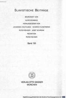 Andrej Belyjs ästhetische Theorie des schöpferischen Bewußtseins : Symbolisierung und Krise der Kultur um die Jahrhundertwende