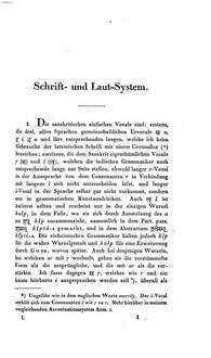 Vergleichende Grammatik des Sanskrit, Send, Armenischen, Griechischen, Lateinischen, Litauischen, Altslavischen, Gothischen und Deutschen. 1