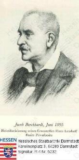Burckhardt, Jacob (1818-1897) / Porträt, Brustbild