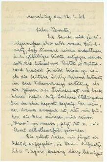 Brief von Fritz Mauthner