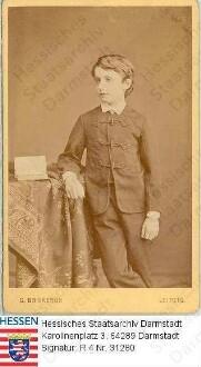 Thiersch, Friedrich, Dr.jur. (1868-1954) / Porträt, Kinderbild, stehend, Kniestück