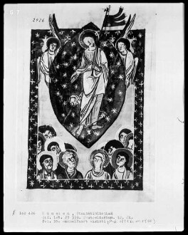 Evangeliar — Himmelfahrt Christii, Folio 35recto