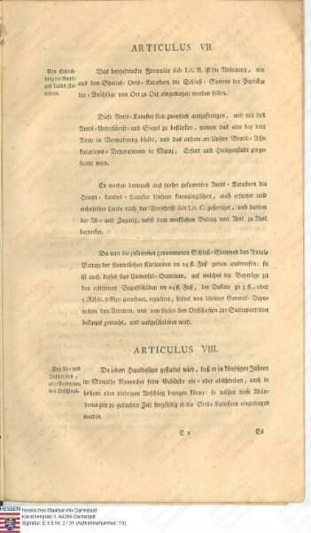Kurfürstlich-Mainzische Feuer-Assekuranz-Ordnung