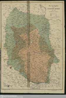 Das Sprachgebiet der Lausitzer Wenden: 1550 – 1872