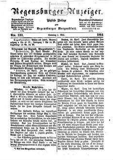 Regensburger Anzeiger. 1864,5-8, 1864, 5 - 8