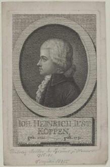 Bildnis des Joh. Heinrich Just Köppen