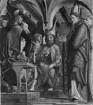 Kirchenväteraltar — Vier Szenen aus der Legende des heiligen Wolfgang — Disputation des heiligen Wolfgang