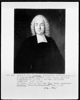Bildnis des Heinrich Otto Duysing, 1750-1781 Professor der Theologie in Marburg (1719-1781)