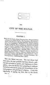˜Theœ city of the sultan and domestic manners of the Turks, in 1836. 2. - IX, 315 S. : 4 Ill.