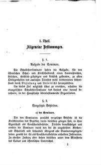 Ordnung der evangelischen Schullehrerseminare im Königreiche Sachsen vom Jahre 1857
