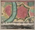 Plan von Dresden, 1:6 000, Kupferstich, nach 1730
