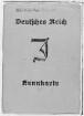 Kennkarte mit Judenkennzeichnung für Victor Klemperer vom 10.03.1939. Vorderseite