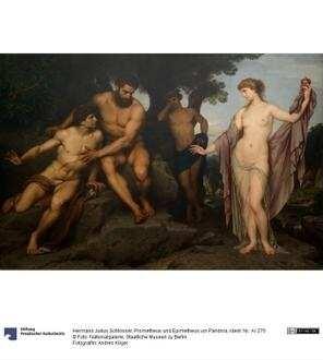 Prometheus und Epimetheus vor Pandora