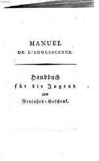 Étrennes pour la jeunesse : Taschenbuch für die Jugend für das Jahr ..., 1793