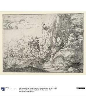 Landschaft mit Felswand