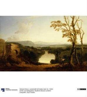 Landschaft mit Flußtal