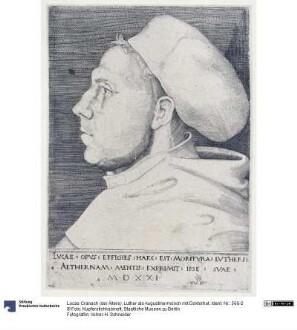 Luther als Augustinermönch mit Doktorhut
