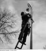 Elektr. Straßenlampe, um 1932