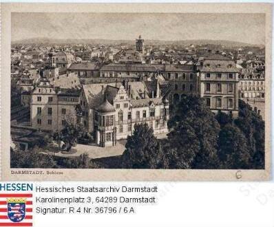 Darmstadt, Schloss / Außenansicht