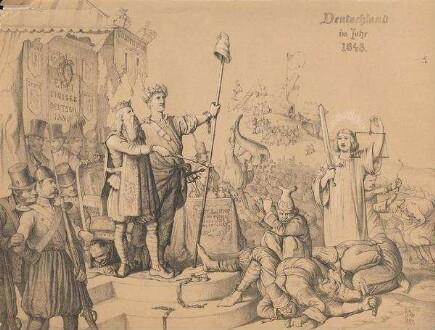 Henry Ritter: Duetschland im Jahr 1848<br /> Provenienz: ULB Düsseldorf