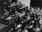 Dr. Gustav Stresemann auf der Völkerbundtagung bei seiner letzten Rede am 9. September 1929