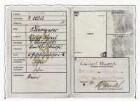 Kennkarte mit Judenkennzeichnung für Victor Klemperer vom 10.03.1939. Innenseiten