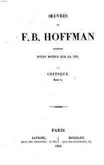 Oeuvres : précédées d'une notice sur sa vie. 7. Critique. Tom. 4. - 1834