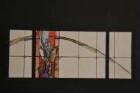 Entwurf für ein Glasfenster in einem Privatfenster in Biebertal